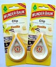(3,33€/10g) 2x 12 g WUNDER-BAUM® Clip Vanilla Auto Duft Clip Autoduft Vanille