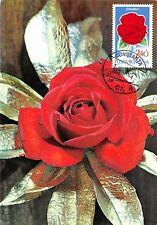 B22937 Fleurs Flowers Roses Maximum card