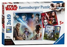 Disney Star Wars 'The Last Jedi' 3x49 Piece Jigsaw Puzzle Game Brand New Gift