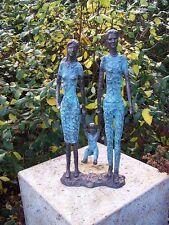 Bronzeskulptur, abstrakt moderne Familie, Dekoration für Haus und Garten *