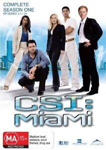 CSI - Miami Complete Season One (DVD 6-Disc Set) Region 4 - NEW+SEALED