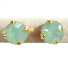 SoHo® Ohrstecker geschliffene Kristalle pacific opal gold türkis 925 vergoldet