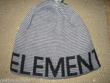 NEW ELEMENT SKATE BEANIE Cap HAT MENS 1SZ S M L TAN
