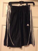 Adidas shorts Athletic Work Out Fitness Sport Men's S Black  3 stripe