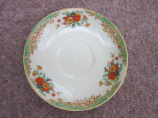 WOODS IVORY WARE ENGLAND SAUCER 1920s ORANGE YELLOW GREEN