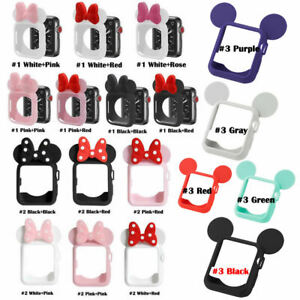 Silicon Bands Minnie Mickey Mouse Protective Case for Apple Watch Series 4 3 2 1