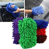 1x Car Auto Sponge Washing Brush Microfiber Chenille Cleaner Tool Accessories