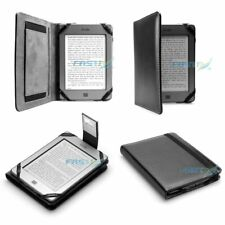 Premium Black Leather Case Cover & Slim Light NEW Kindle (2018, 8th Generation)