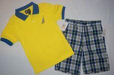 NWT $48 NAUTICA 2pc set  BOY size 7 blue, yellow