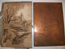 gravure Plaque de cuivre pour gravure à l'eau-forte