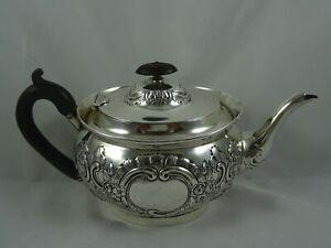 SUPERB, sterling silver TEA POT, 1905, 607gm