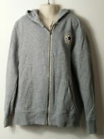 BOYS CONVERSE AGE 10-12 YEARS GREY HOODED ZIP UP TRACKSUIT TOP JACKET