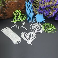 Heart Set Cutting Dies Stencils DIY Scrapbooking  Embossing Card Paper Craft
