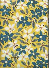 Coupon tissu jaune fleurs charles demery souleiado