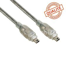 Cable video DV firewire 4/4 camescope compatible JVC VC-VDV204U miniDV vers PC