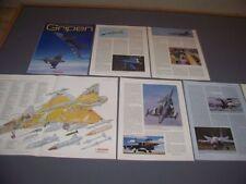 VINTAGE..JAS 39A GRIPEN...HISTORY/CUTAWAY/SPECS/3-VIEWS..RARE! (208F)