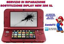 NINTENDO NEW 3DS XL SOSTITUZIONE SCHERMO LCD DISPLAY SUP SERVIZIO DI RIPARAZIONE