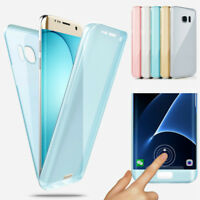 360° Silicone Protective Clear Case Cover For Samsung Galaxy S6 S7 S8 S9+ Note 5