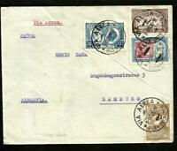 ARGENTINA 1928 AIR COVER TO GERMANY (HAMBURG) GOOD FRANKING