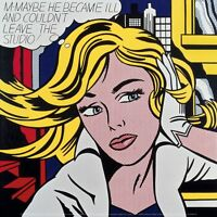 M-Maybe a Girl's Picture, 1965 by Roy Lichtenstein Art Print Pop Poster 12x12