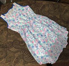 Guess Kids Girls Dress Sleeveless Hi Low Denim Floral Pink Purple Size 16
