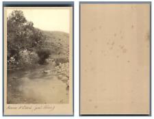 Palestine, La source d'Elisée  CDV vintage albumen,  Tirage albuminé  6