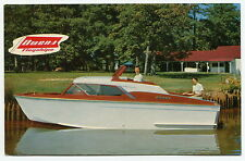 "Vintage Boat Advertising Postcard: ""Owens Inboard-Outboard Cruiser"""