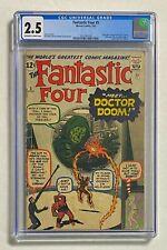 FANTASTIC 4 FOUR #5 Marvel Comics 1962 CGC 2.5 DR DOOM Origin & 1st Appearance