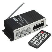 100W Black Remote Control Mini Car Power Amplifier USB DVD MMC CD FM MP3 Player
