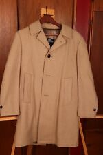Stafford Beige Lined Long Trench Over Coat Jacket Men's 36R Warm