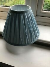 LOVELY TEAL BLUE SILK PLEATED SHADE 8.5INCHES X 12INCHES