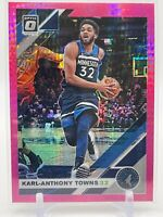 2019-20 Donruss Optic Basketball KARL-ANTHONY TOWNS Pink Hyper Prizm SP #131