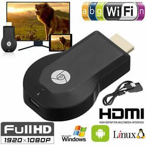 1080P Smart Media Player TV Stick Google Dongle Chrome Cast Mac USB Anycast DE