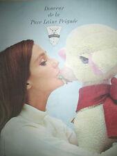 PUBLICITE DE PRESSE LAINE PEIGNéE LA DOUCEUR MOUTON PELUCHE FRENCH AD 1965