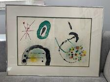 Vintage Joan Miro Mi Siècle Moderne 1963 Lithographie Derrière La Miroir