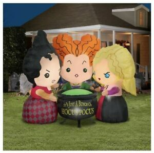 Disney Hocus Pocus Sanderson Sisters 4.5' Inflatable Airblown Halloween Yard