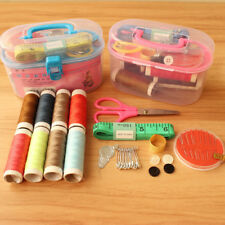 1set Sewing Storage Box Scissor Thimble Buttons Pins Sewing Accessories Box Kits