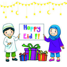Eid Holiday Children Celebrate Eid Design Gift Stickers (Pack of 24)