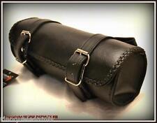 bolsa estuche de horquilla piel ágil - moto custom trike harley shadow