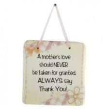 Wall Plaque - A Mother's Love Ceramic Plaque - ( New )