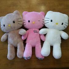 BUILD A BEAR HELLO KITTY Lot 3 Stuffed Plush Sanrio White Brown Tan Pink Clothes