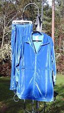 ROAMAN'S ROYAL BLUE VELVET VELOUR LONG JACKET PANTS SET WOMEN'S PLUS SZ 1X TALL