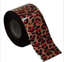 1 Meter Transferfolie Nail Art Zauberfolie Nagel wassertransfer Leopard Folie 23
