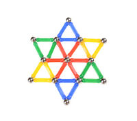 37 Pcs Magnetic Rods Children's Creative Manual Material Magnetic Blocks Toy 5hM
