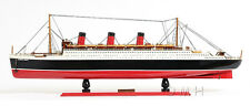 "RMS Queen Mary Cruise Ship Assembled 40"" Ocean Liner Wooden Model Boat Assembled"