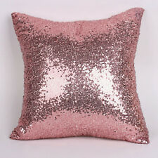 New Glitter Solid Sequins Throw Pillow Case Lounge Cafe Decor Cushion Cover 40cm