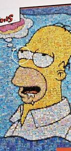 Simpsons Photomosaics 1000 Piece Homer Donut NEW Jigsaw Puzzle Buffalo w/ Poster