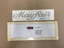 Classic Mini 'MAYFAIR' Bootlid Decal - Gold - JRC2676GE