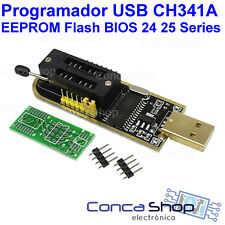 PROGRAMADOR EEPROM Flash BIOS USB 24 25 Series CH341A - SOFTWARE ESPAÑOL+DRIVERS