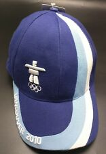 2010 VANCOUVER OLYMPICS blue fitted cap / hat; cotton blend -One size fits most